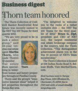 thorn-team-honored